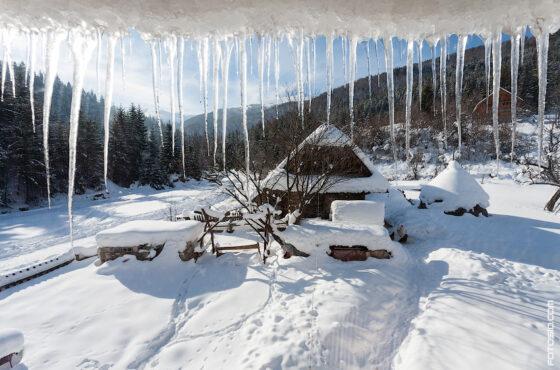 Зимой в Карпатах