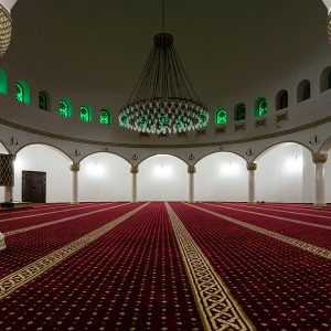 Interior of Ar Rahma mosque in Kiev, Ukraine