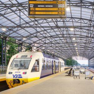 ЖД платформа в аэропорту Борисполь